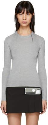 Prada Grey Cashmere Crewneck Pullover