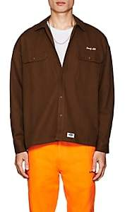 Dickies CONSTRUCT Men's Logo Cotton Oversized Workshirt - Brown