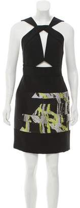 J. Mendel Paneled Cutout Dress w/ Tags