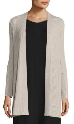 Eileen Fisher Rib-Knit Long Cardigan $298 thestylecure.com