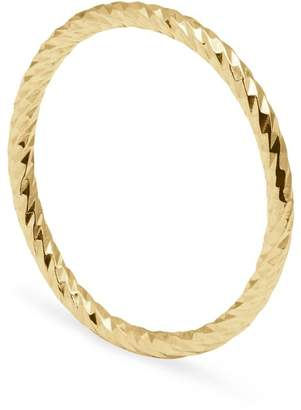 Myia Bonner Gold Diamond Faceted Ring
