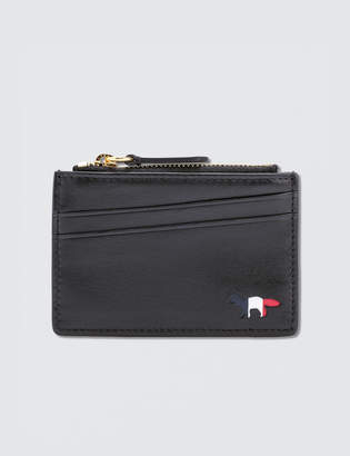 MAISON KITSUNÉ Tricolor Zipped Card Holder