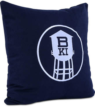 """Berkshire Brooklyn Industries Embroidered 18"""" Square Decorative Pillow"""
