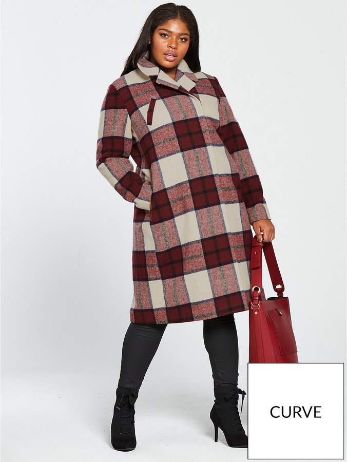 Stampi Checked Overcoat - Oatmeal