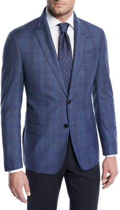 Emporio Armani Two-Tone Plaid Wool Jacket