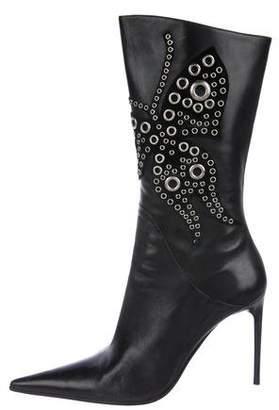 Gianmarco Lorenzi Leather Embellished Boots