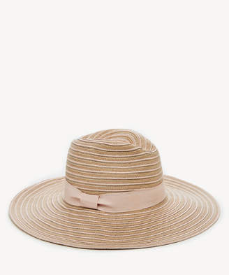 Sole Society Women's Wide Brim Fedora Hat With Band Blush One Size From