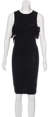 Saint Laurent Cold-Shoulder Knee-Length Dress