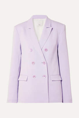 Tibi Double-breasted Crepe Blazer - Lavender