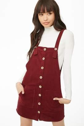 Forever 21 Corduroy Mini Overall Dress