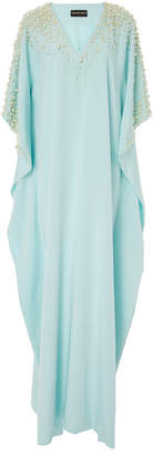 Christian Siriano M'O Exclusive Pearl Embellished Caftan $5,200 thestylecure.com