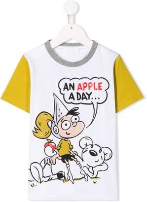 Burberry Cartoon Print Cotton T-shirt
