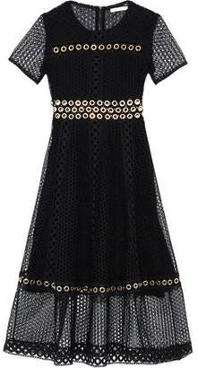 Maje Eyelet-Embellished Guipure Lace Dress