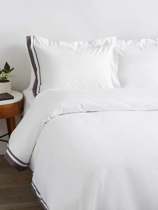 Saks Fifth Avenue Luxe Double Band Sateen Duvet Set