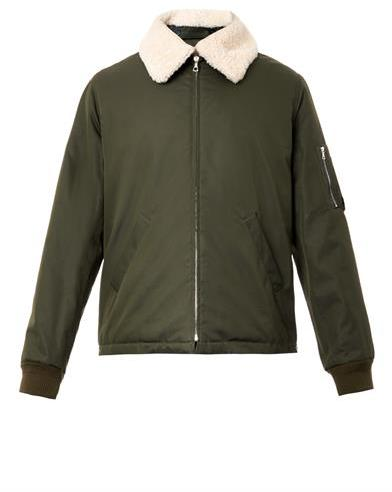 A.P.C. Hunter shearling-collar bomber jacket