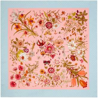Gucci Silk scarf with Flora print