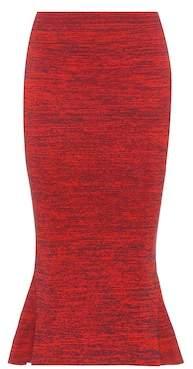 Stella McCartney Knitted cotton midi skirt