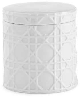 Kassatex Rattan Porcelain Cotton Jar