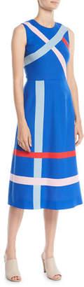 Novis Sleeveless A-Line Striped Merino Wool Dress