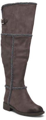 High Shaft Faux Fur Lined Boots