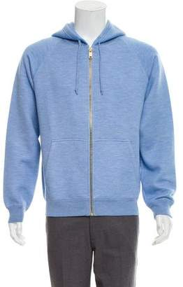 Marc Jacobs Cashmere & Silk Blend Zip-Up Hoodie