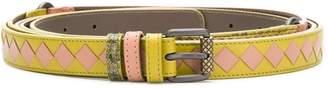 Bottega Veneta Intrecciato Check belt