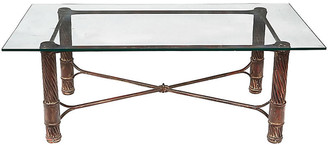 One Kings Lane Vintage Handmade Iron & Glass Top Coffee Table - 2-b-Modern