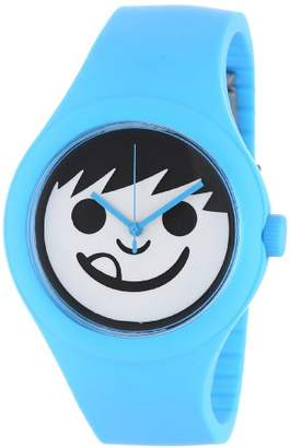 Neff Timely Unisex Digital Watch with White Dial Analogue Display and Blue Silicone Strap NF0206CYN