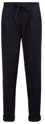 BOSS Hugo Relaxed-fit chinos in a stretch-wool 34R Open Blue