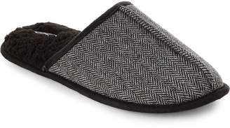 Kenneth Cole Reaction Charcoal Herringbone Clog Slippers