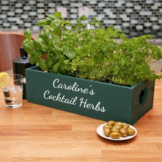 Equipment Plantabox Personalised Wooden Plant Pot Holder Two Pots