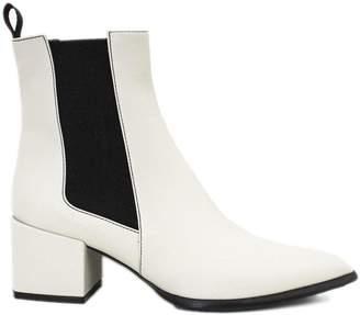 Roberto Festa Rania Ankle Boot In White Leather.