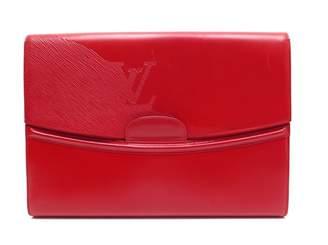 Louis Vuitton Vintage Red Patent leather Clutch Bag