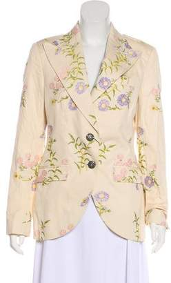 Dolce & Gabbana Daisy Embroidered Blazer w/ Tags