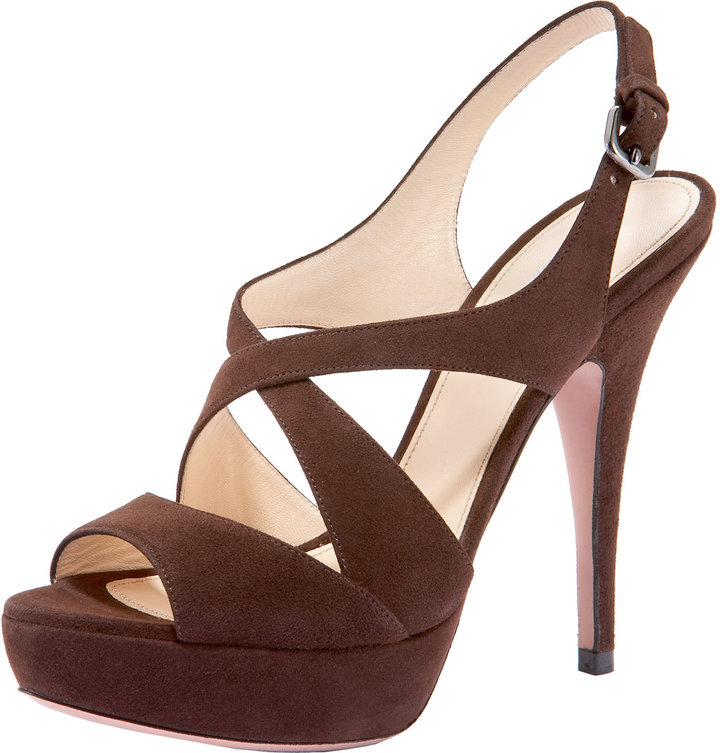 Prada Crisscross Sandal