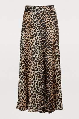 Ganni Blakely silk skirt