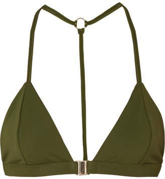 Fella - Louis Halterneck Bikini Top - Army green