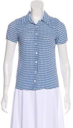 Reformation Short Sleeve Button-Up Top