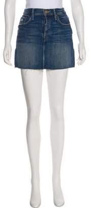 Mother Mini Denim Skirt