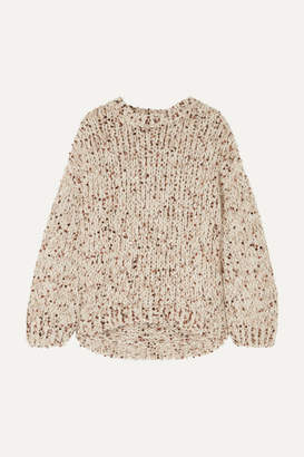 Brunello Cucinelli Sequined Chunky-knit Sweater - Beige