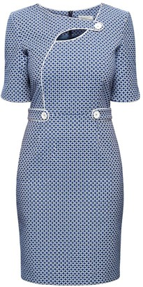 Rumour London Francesca Polka Dot Dress With Keyhole Tab Neckline