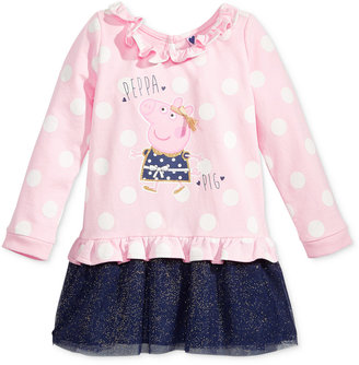 Nickelodeon's Peppa Pig Long-Sleeve Polka-Dot Dress, Toddler & Little Girls (2T-6X) $38 thestylecure.com