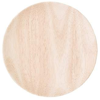 BLOOMINGVILLE Rubber Wood Round Plated - 8""