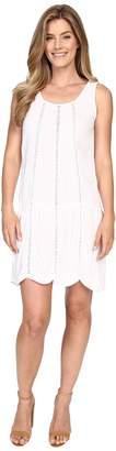 Allen Allen Seamed Tank Dress w/ Lace Trim Women's Dress