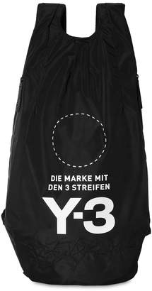 Y-3 Logo Print & Embroidered Nylon Backpack