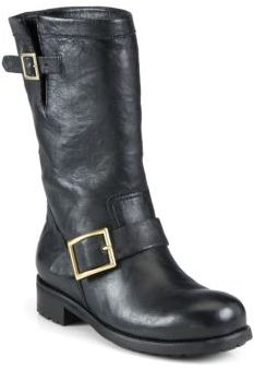 Jimmy Choo Jimmy Choo Leather Biker Boots