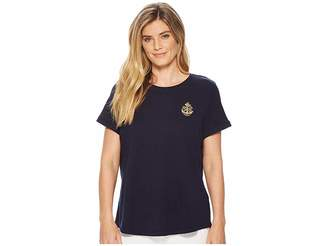 Lauren Ralph Lauren Petite Bullion-Patch Cotton T-Shirt