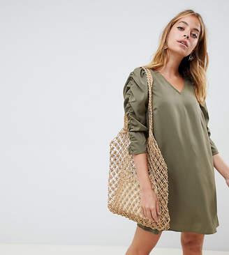 Vero Moda Petite petite gathered sleeve shift dress
