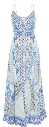 Camilla Garden State Embellished Printed Silk Maxi Dress