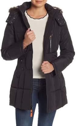 Nautica Faux Fur Trimmed Down Jacket